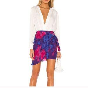 Majorelle Hoover Mini Skirt in Tie Dye Multi M